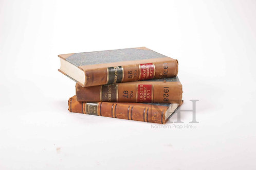 Leather law books