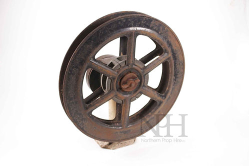 Film reel on stand