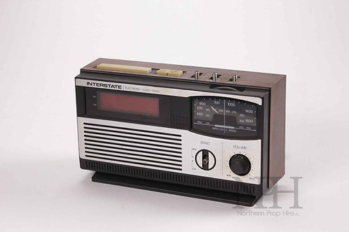 Interstate clock radio
