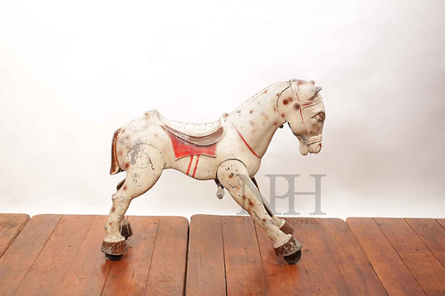 Articulated metal horse