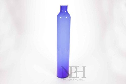 Blue tall vase