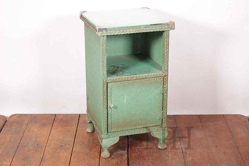 Lloyd loom wicker bedside cabinet