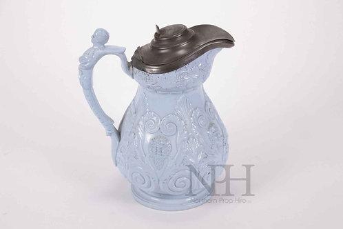 Blue lidded jug
