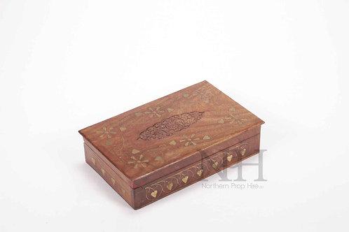 Brass inlay box