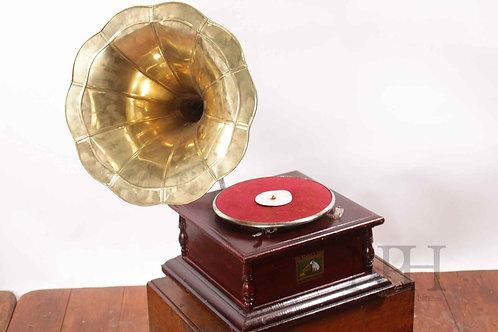 Brass gramophone