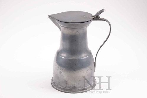Pewter lidded jug
