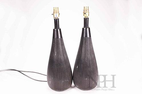 Pair black lamps