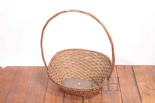 Thin handled basket