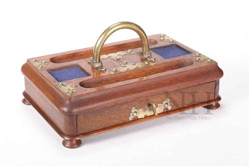 Brass bound desk set