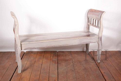 Eastern European wooden bench