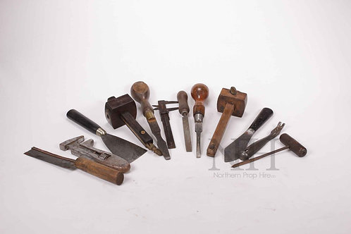 Various woodworkers tools