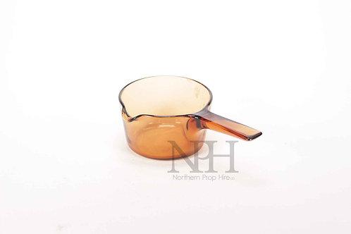Glass sause pan