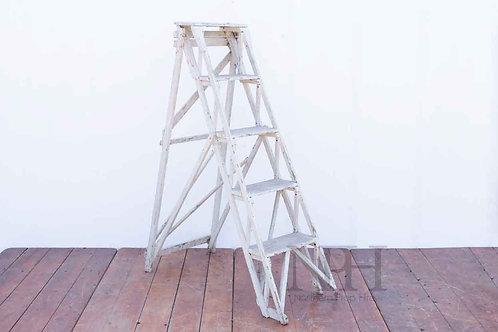 White wooden steps