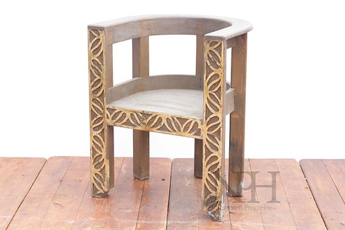 Carved throne