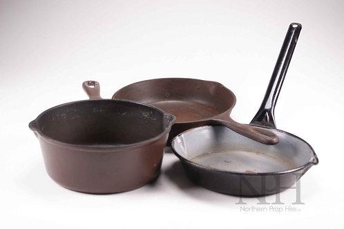 Cast iron pans