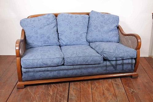 Blue wicker sofa