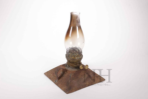 Rusty oil lamp