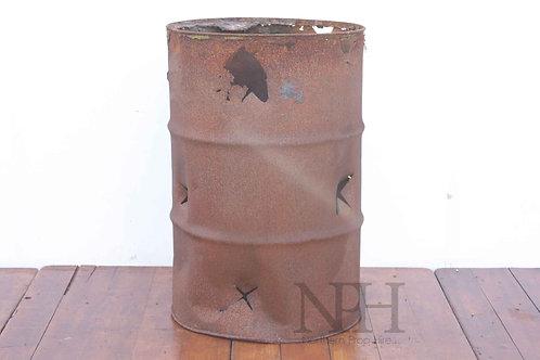 Burnt out fire bin