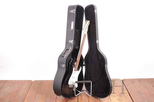 Cased electric guitar
