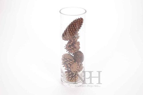 Pine cones in vase