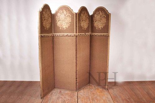 Brown tapestry screen