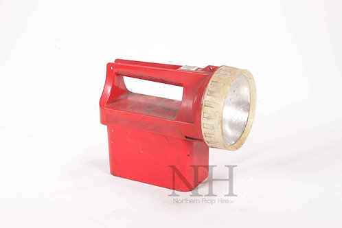 Red plastic torch