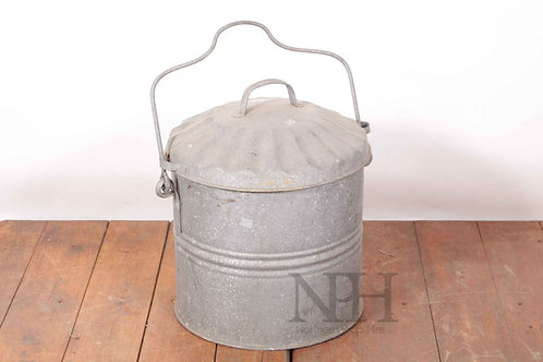 Galvanised ash can