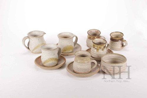 Earthenware cups