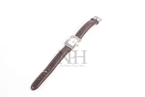 Silver & Leather watch