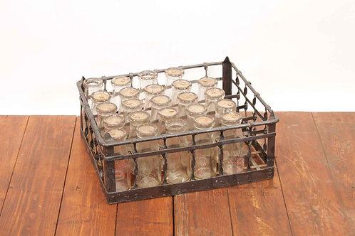 Galvanised milk crates