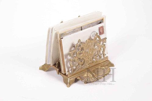 Brass letter rack