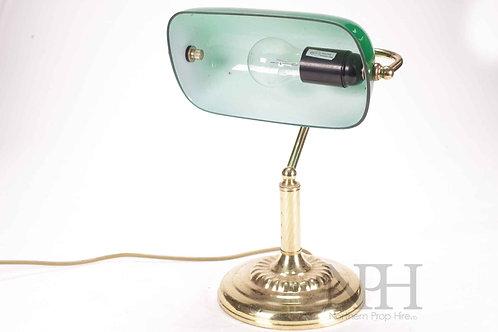 Green glass office lamp