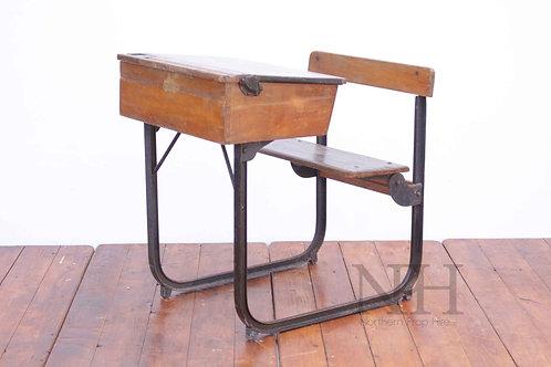 Cast iron single desk
