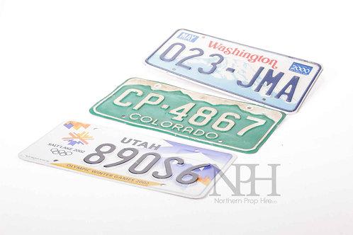Amrican car plates