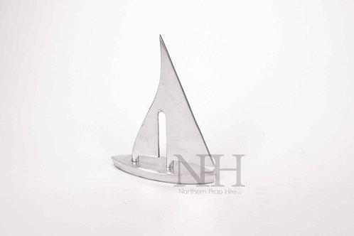 Silver yacht