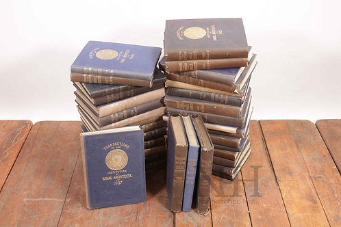 Cloth bound ships ledgers