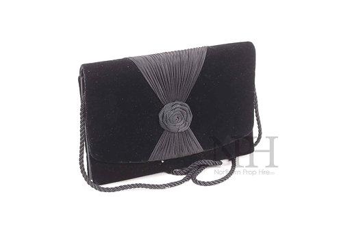 Black rose handbag