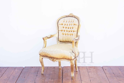 Gold upholstered