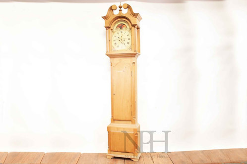 Pine grandfather clock