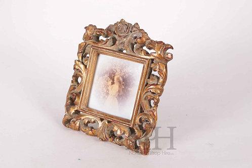 Ornate gold photo frame