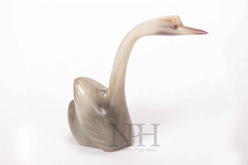 Carved horn bird