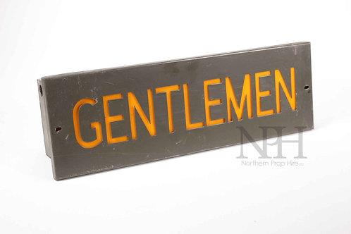 Gentlemen sign
