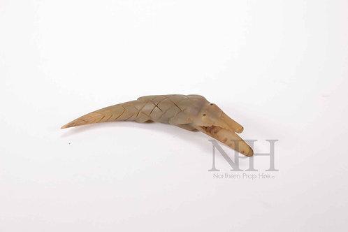 Carved alligator