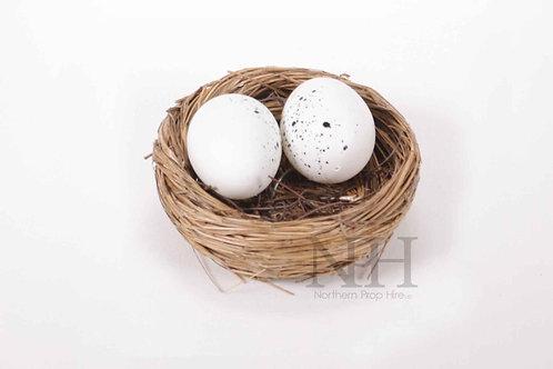 Eggs in bird basket