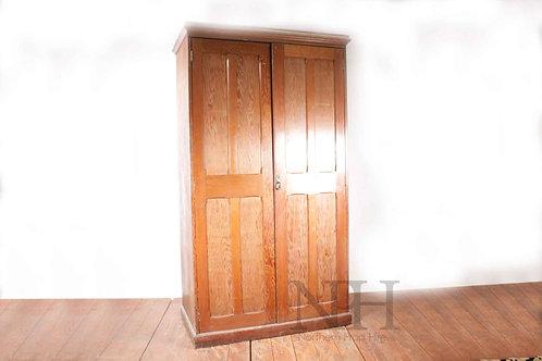 Pitch pine school cupboard