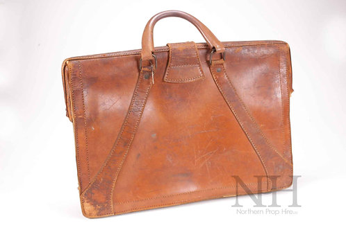 Brown stitched Briefcase