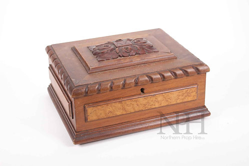 Carved lock box