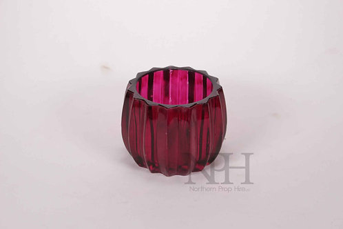 Red glass pot