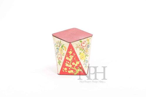 Floral tin