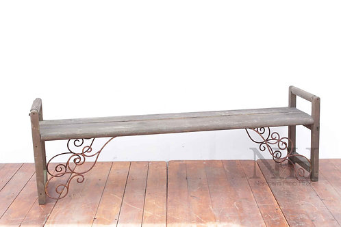 Bench with scrolls